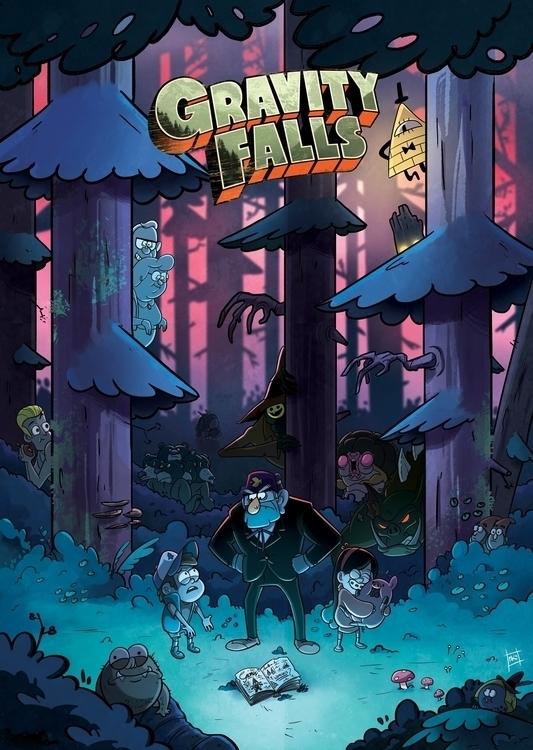Gravity Falls fanart damn show  - kirbish | ello