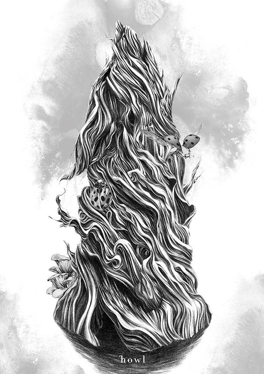 wolf, tree, art, artwork, eakkarlak - eakkarlak | ello