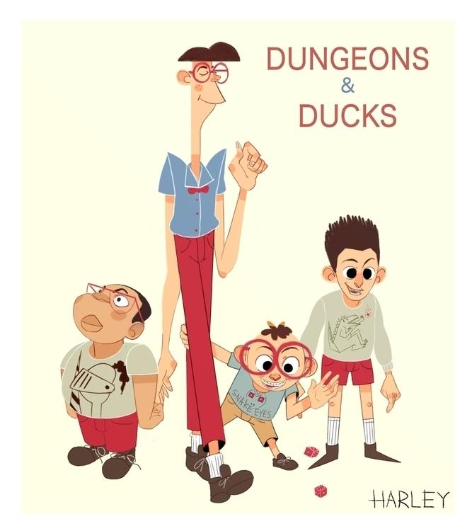 Dungeons Ducks - characterdesign - harleyhuang | ello
