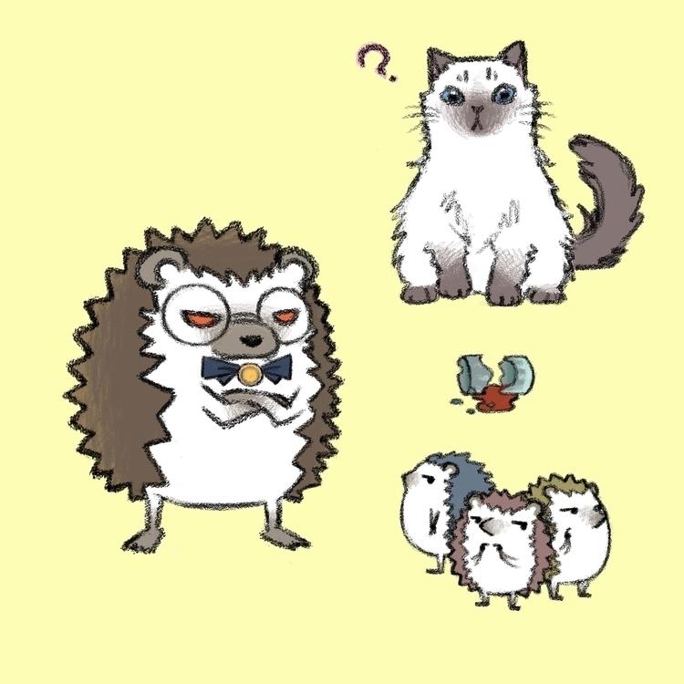 Hedgehog cat character concept  - eunice-3818 | ello