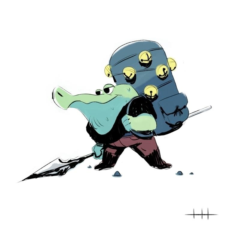 Crocadude - characterdesign - harleyhuang | ello