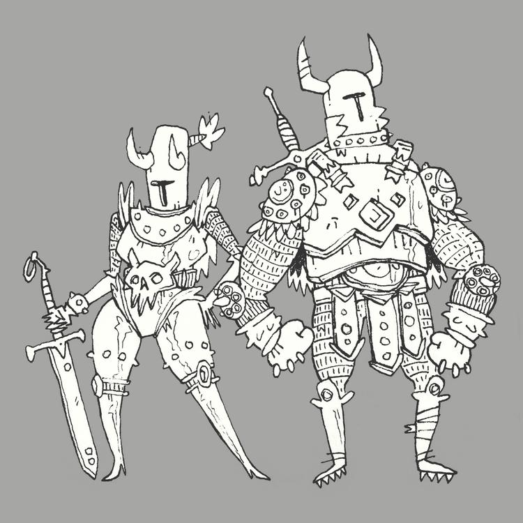 kling! clang! knight sounds - illustration - colinbrown-7810 | ello