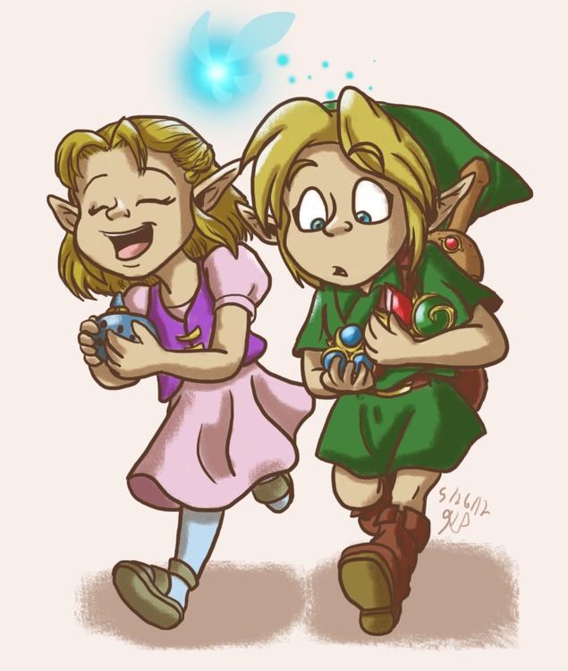 Young Link Zelda - illustration - kelsbugproductions | ello