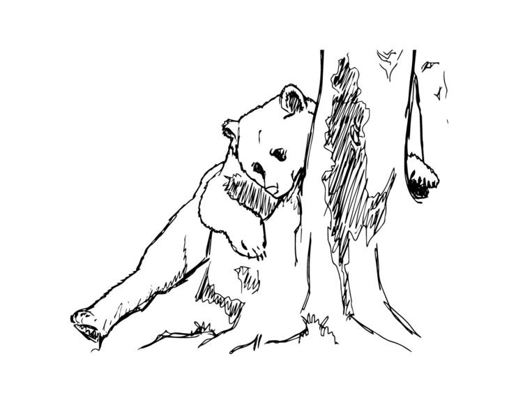 Bears trees - bear, tree, illustration - sophiedut | ello