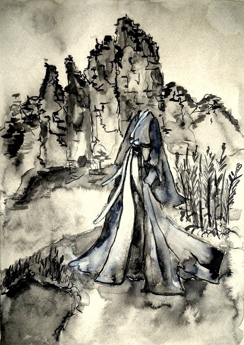 painting, drawing, ink, blackandwhite - randa-6383 | ello
