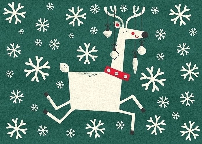 Holiday reindeer illustrated de - mrmack-4537 | ello