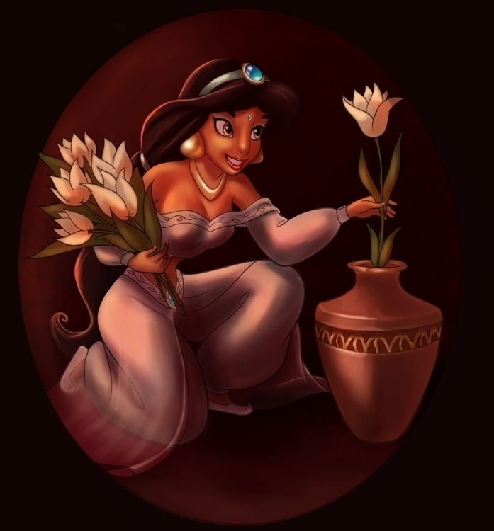 Jasmine - Aladdin (Disney - painting - camii-4866 | ello