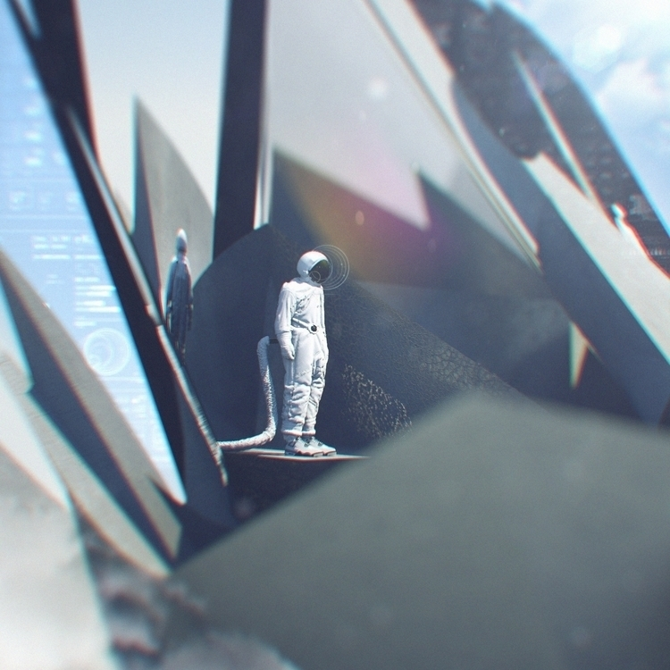 Spaceman cements - cinema4d, cinemaillustration - danielortiz-6986 | ello