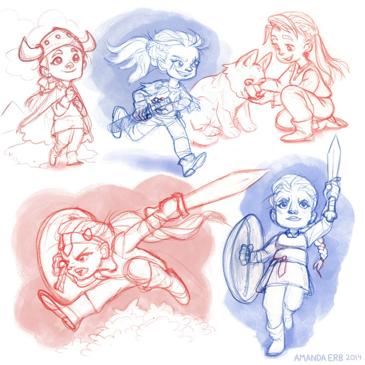 viking girl sketches - inspired - amandaerb | ello