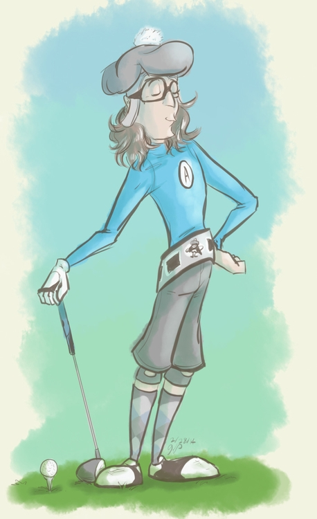 Golf - illustration, aquabats, theaquabatssupershow - kelsbugproductions | ello