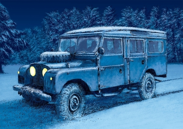 Series Land Rover illustration  - dannybriggs | ello