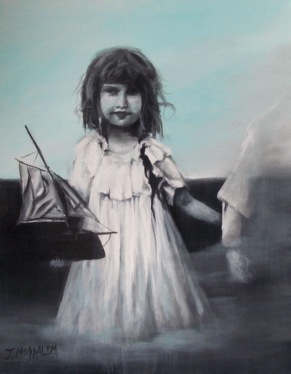 Charlotte Boat acrylic canvas - jimoss31   ello
