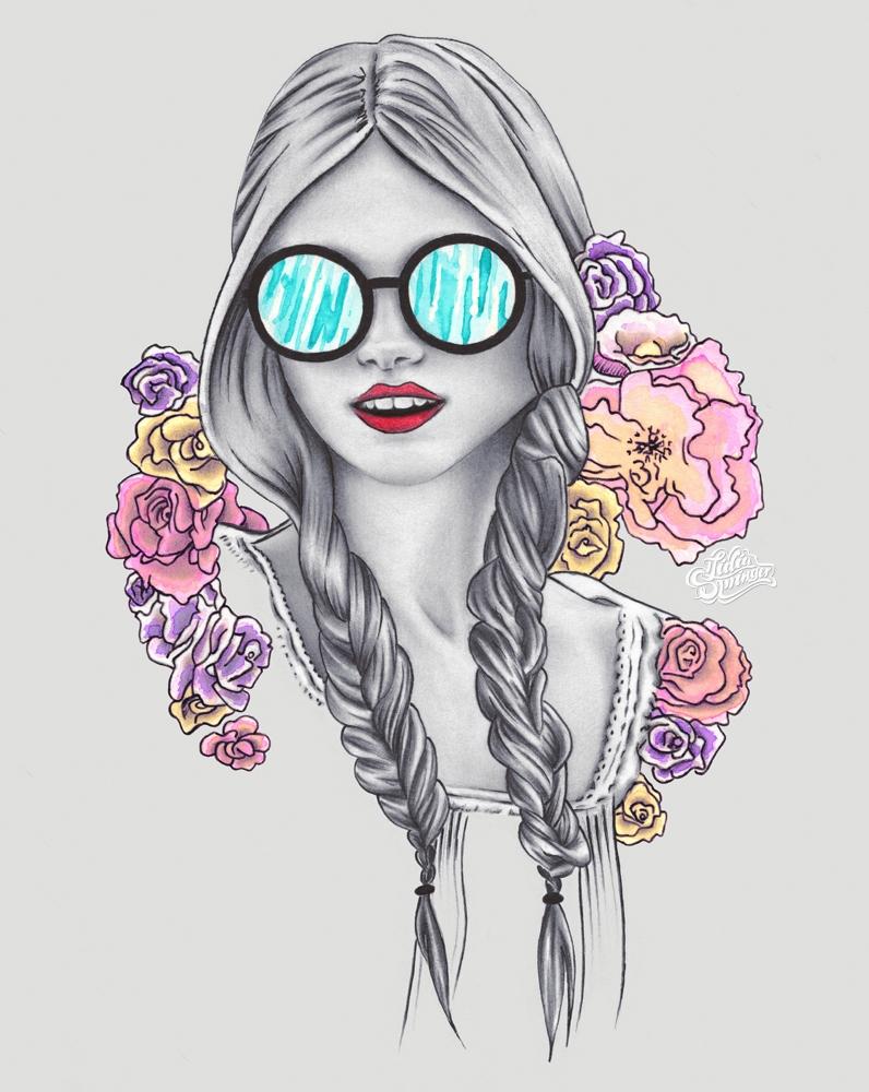 Bohemian Girl - art, arts, artistic - lidiaspringer   ello