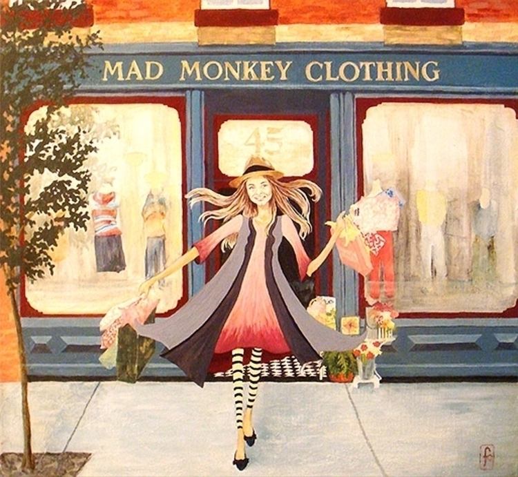 Grace Mad Monkey Clothing - illustration - francesclancy | ello