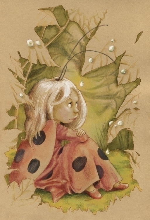 Ladybug Fairy - fairy, elf, fantasy - joannapasek | ello