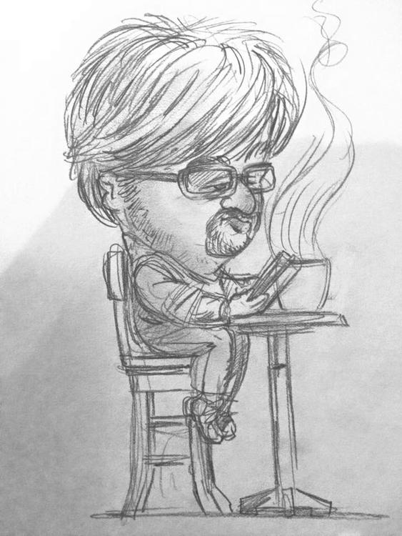 Coffee shop guy - sketchbook - johnoconnell-1072 | ello