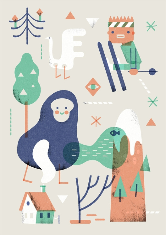 spooky winter / xmas card 2015 - schnuppe | ello