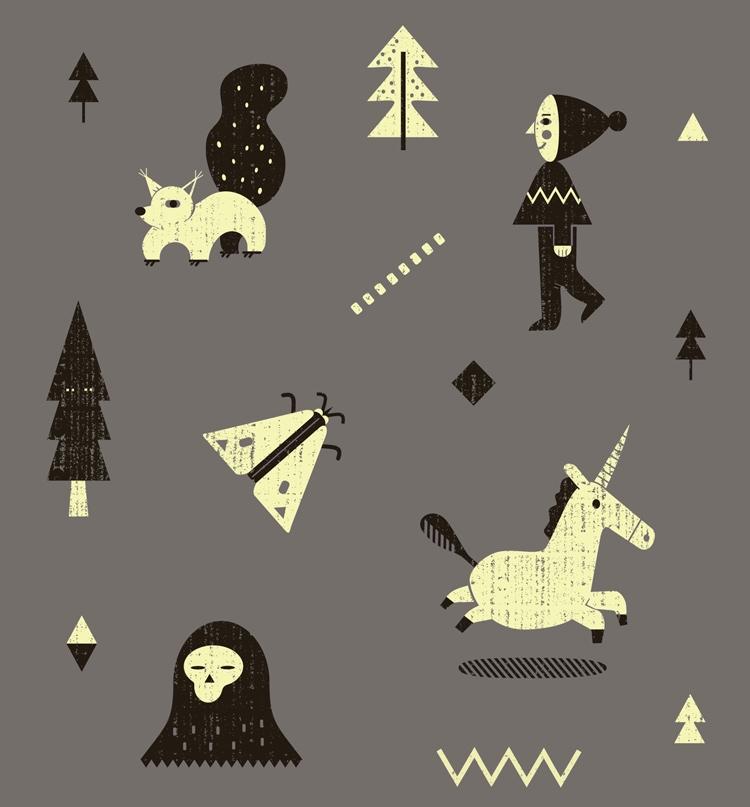 pattern textiles: illustration  - schnuppe | ello