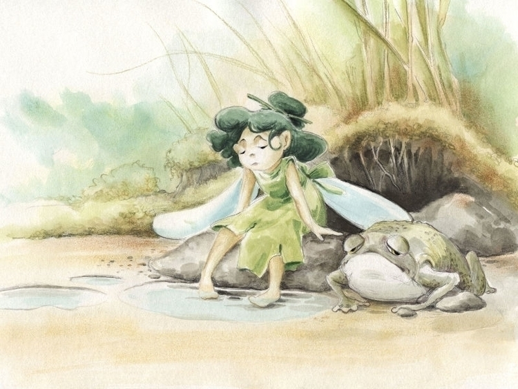 Drought - illustration, watercolor - joannapasek | ello