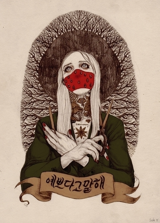 Red Mask - illustration - chickenmeat | ello