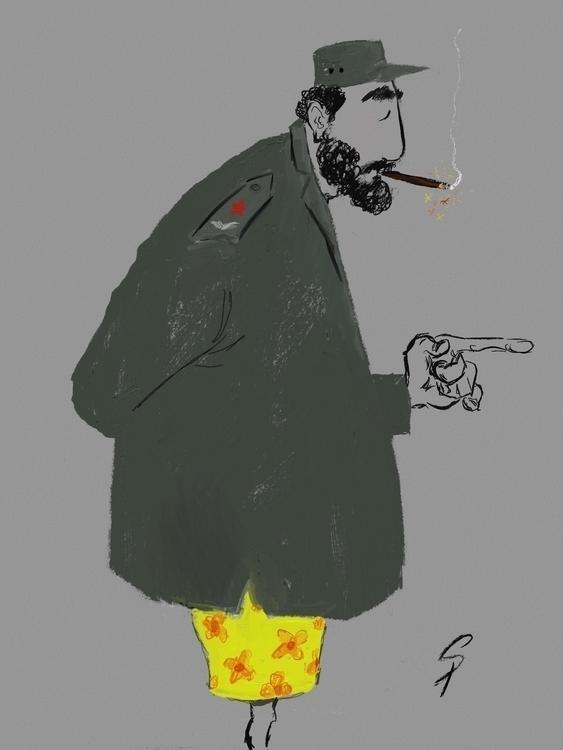 Fidel Castro. drawn iPad pro Ap - yazzum | ello