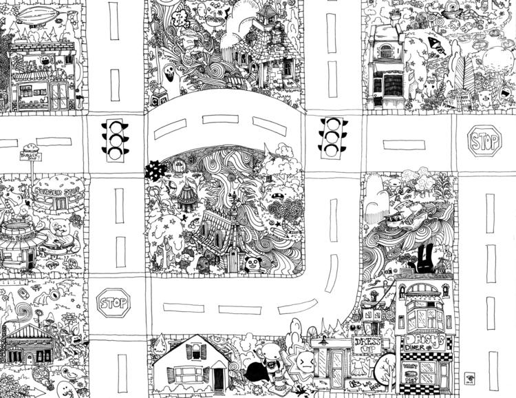 Seek Find Doodle Map 3 - doodle - wyldtrees | ello