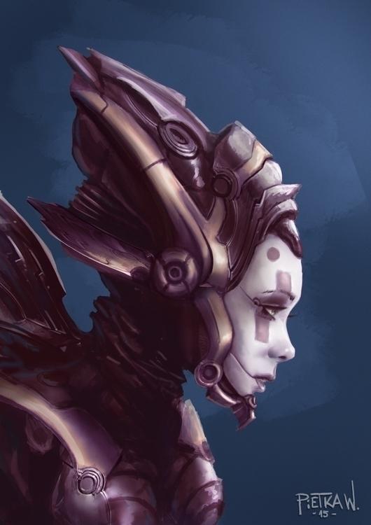 Robo girl concept - gameart, conceptart - pietkaw | ello