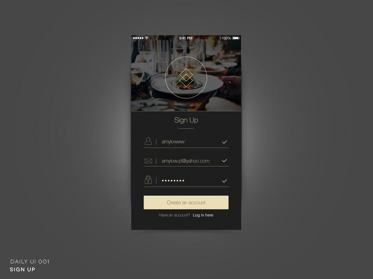 Daily UI 001- Sign - ui, webdesign - amylpl | ello