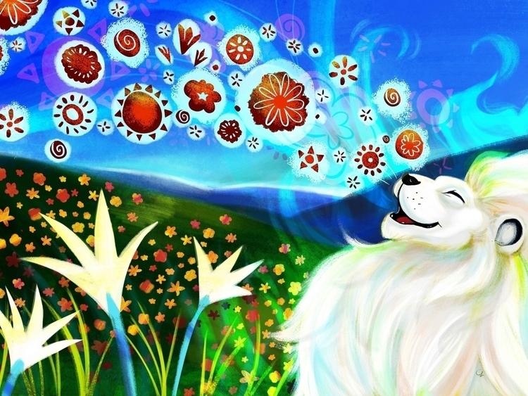 Creation Song - illustration, aslan - unicorndoodles | ello