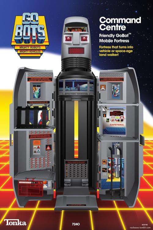 GoBots Command Center - gobots, illustrator - rockasoo | ello