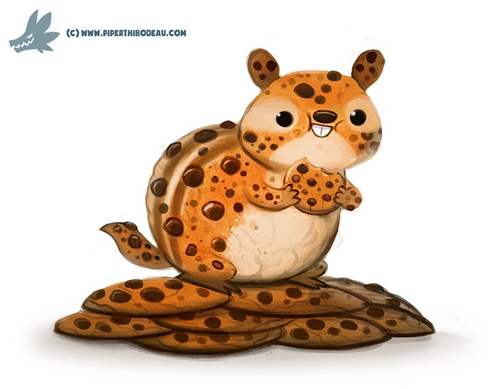 Daily Paint Chocolate Chipmunk - piperthibodeau | ello