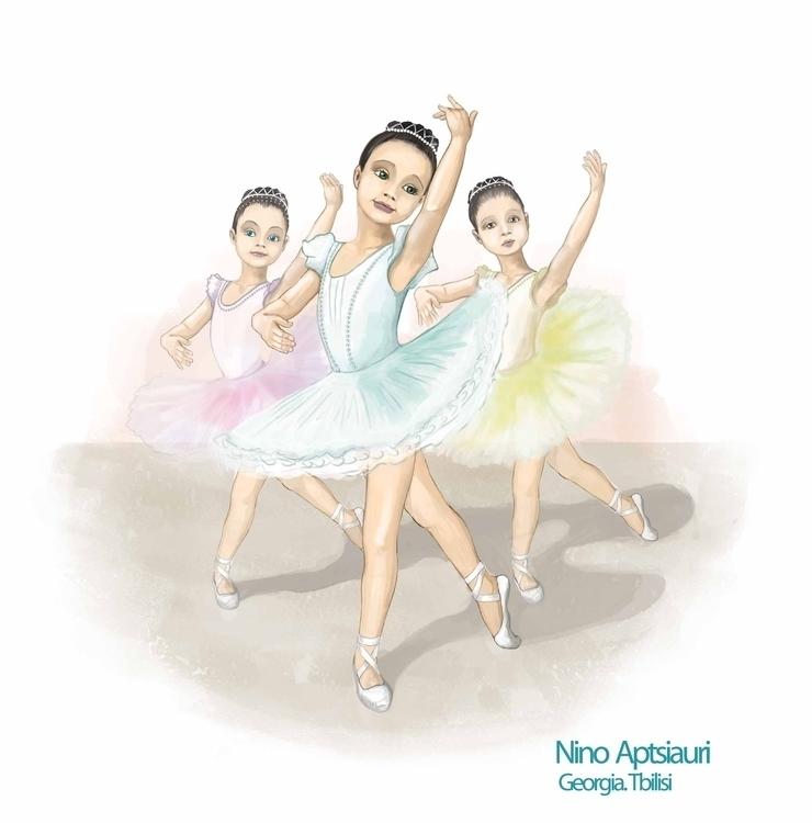 Ballerinas - illustration, painting - ninaaptsiauri   ello