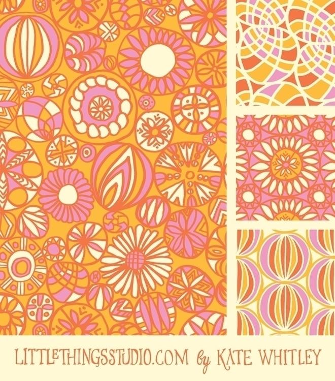 pattern, retro, handdrawn - katewhitley | ello