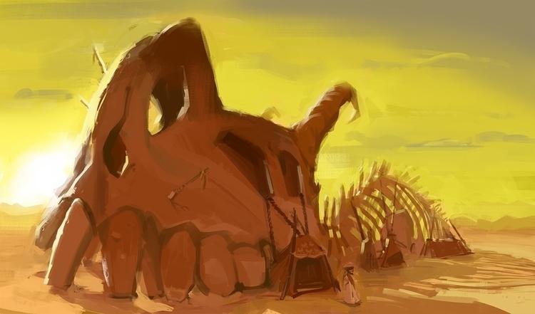 background paintin - painting, illustration - samszym | ello