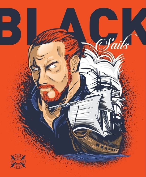 Captain Flint - illustration, captainflint - leom92 | ello
