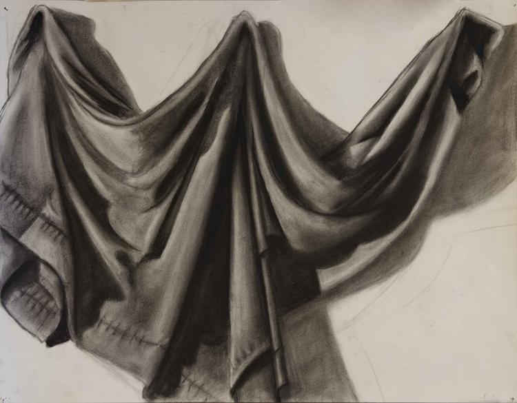 Draped Cloth Study Charcoal ~~  - siberian_sweaters | ello