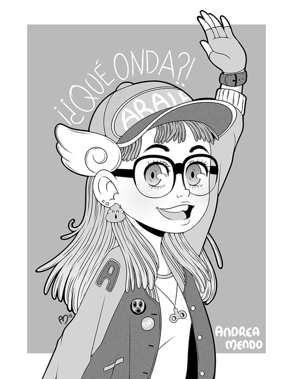 Arale - illustration, drawing, fanart - andymendo | ello