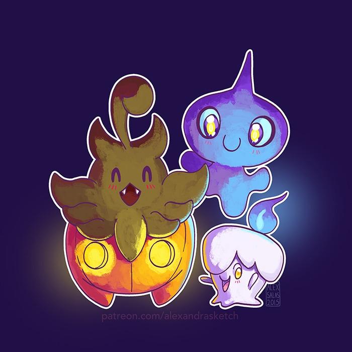 pokemon, halloween, ghostpokemon - alexandrasketch | ello