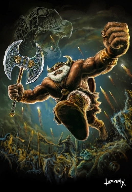 viking hero illustrated photosh - lordyboy-1442 | ello