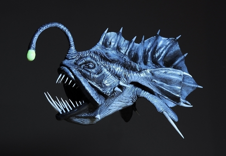painted version Angler fish Scu - heliot-4253 | ello