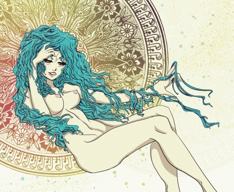 Freyja - illustration, digitalart - donamarie | ello
