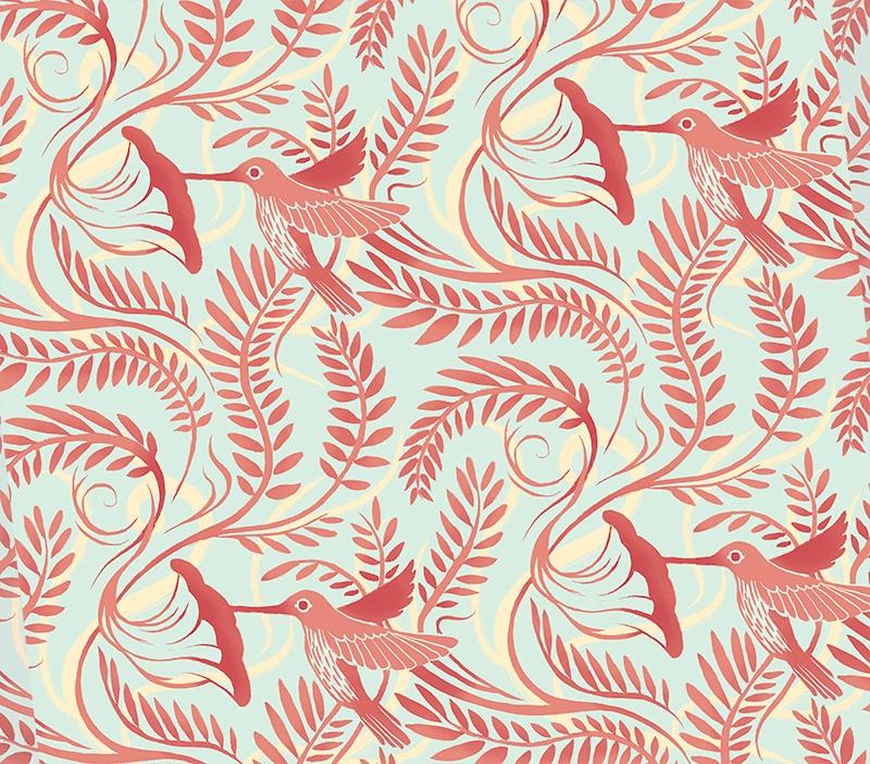 Hummingbird Pattern - hummingbird - nicolexu-8498 | ello