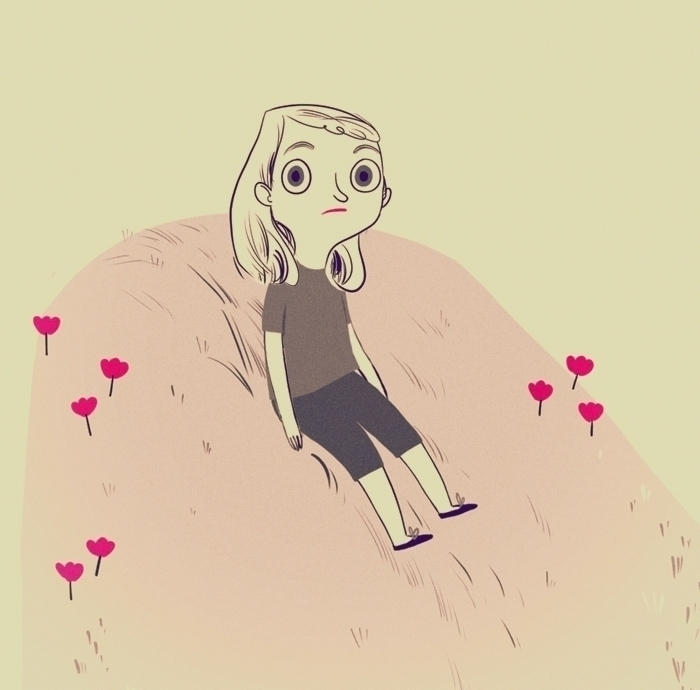 poor - poorthing, girl, sad, hill - tanjir | ello