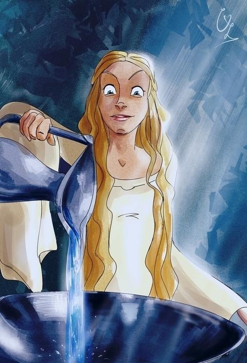 Mirror Galadriel - illustration - condemned2love | ello
