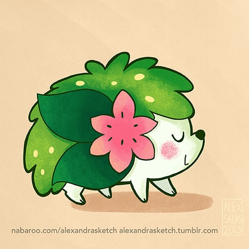 shaymin, pokemon, fanart, gaming - alexandrasketch | ello