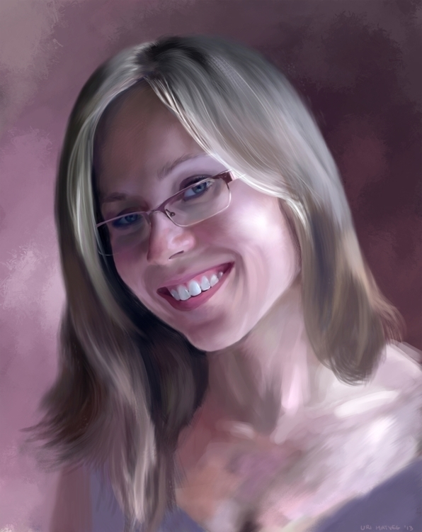 Annia - illustration, painting, portrait - urimatveg | ello