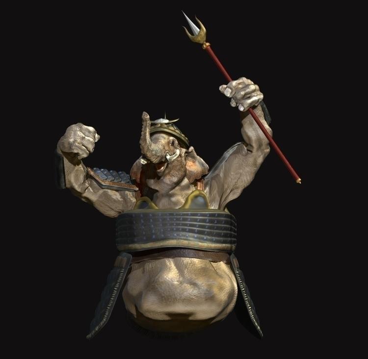 Elephant Guard; ZBrush model - characterdesign - mrsturtevant   ello