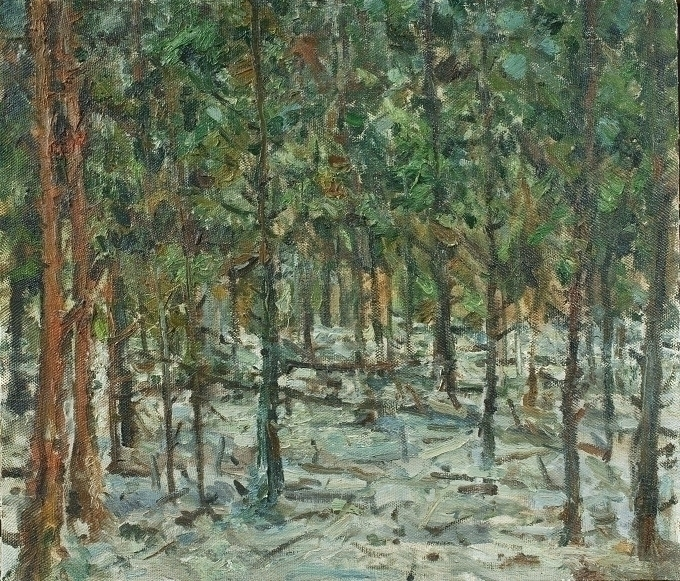 Forest, 70/80, Oil / canvas, 20 - antonbogatov | ello