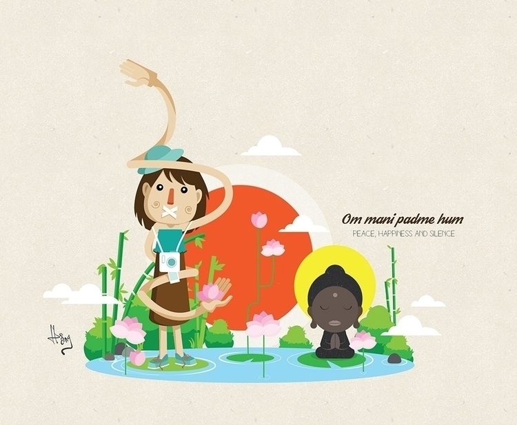 Zen - buhha, illustration, funny - judynguyen-5846 | ello