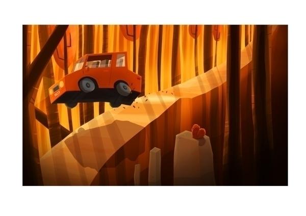 Kind road trip - car, squirrel, roadtrip - renaudlavency | ello